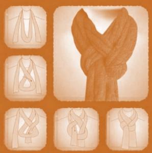 foulard noeud tresse